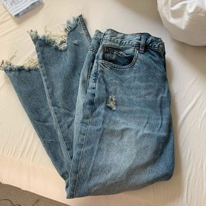 Free people chewed up jeans